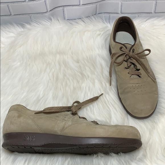 SAS Free Time Bone Suede Walking Shoes Size 8